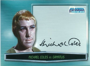 Doctor Who Big Screen -  A10 Michael Coles as Ganatus Trading Card -  10659